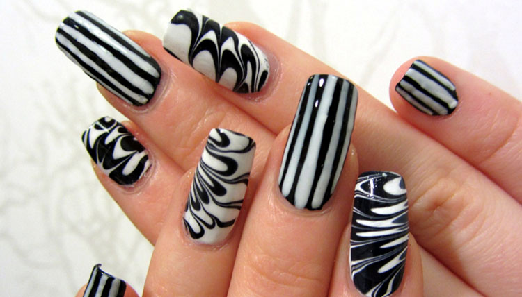 Party Black Nail Designs