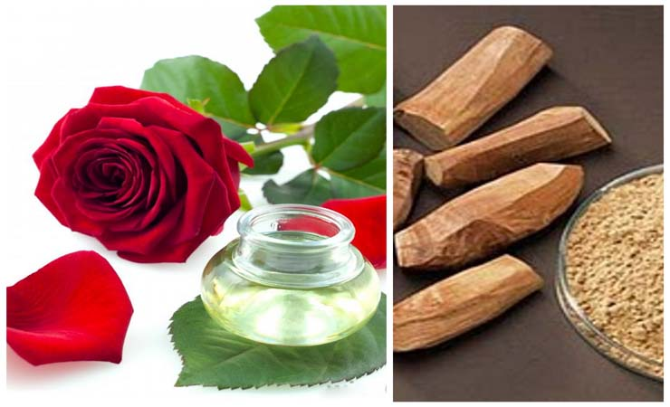 Rose water and Sandal Wood