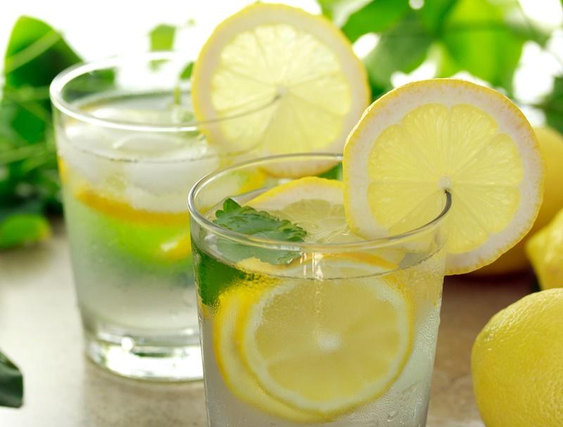 Drinking Lemon Water